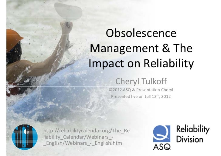 Obsolescence                       Obsolescence                   Management & The                    Management & The    ...