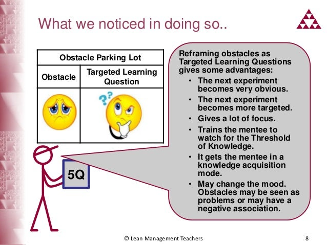 Obstacles to learning