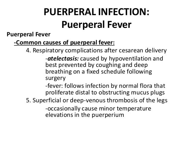 causes of puerperal pyrexia