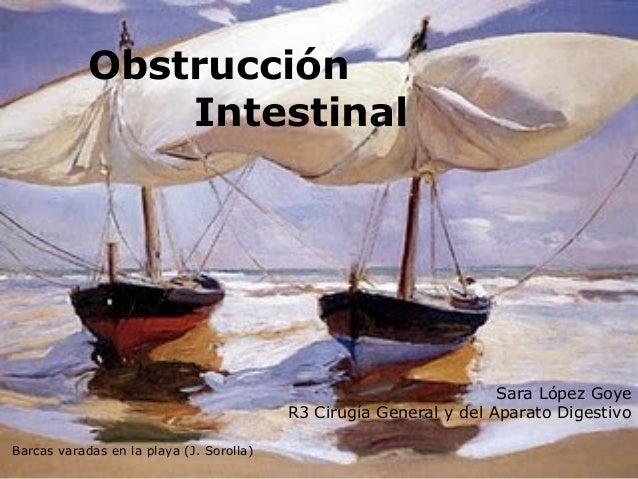 Obstrucción Intestinal Sara López Goye R3 Cirugía General y del Aparato Digestivo Barcas varadas en la playa (J. Sorolla)