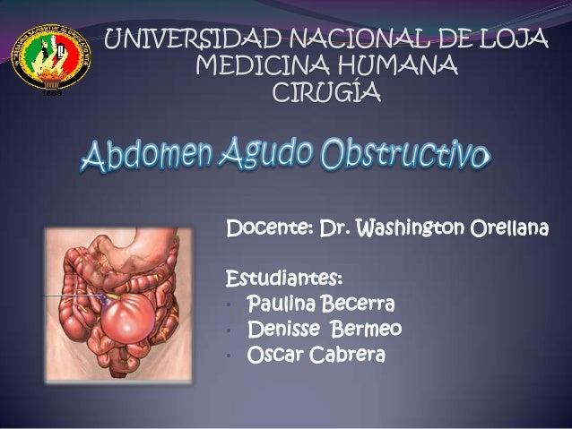 UNIVERSIDAD NACIONAL DE LOJA MEDICINA HUMANA CIRUGÍA Docente: Dr. Washington Orellana Estudiantes: • Paulina Becerra • Den...