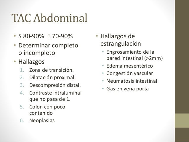 Obstrucci n intestinal for Dilatacion 2mm