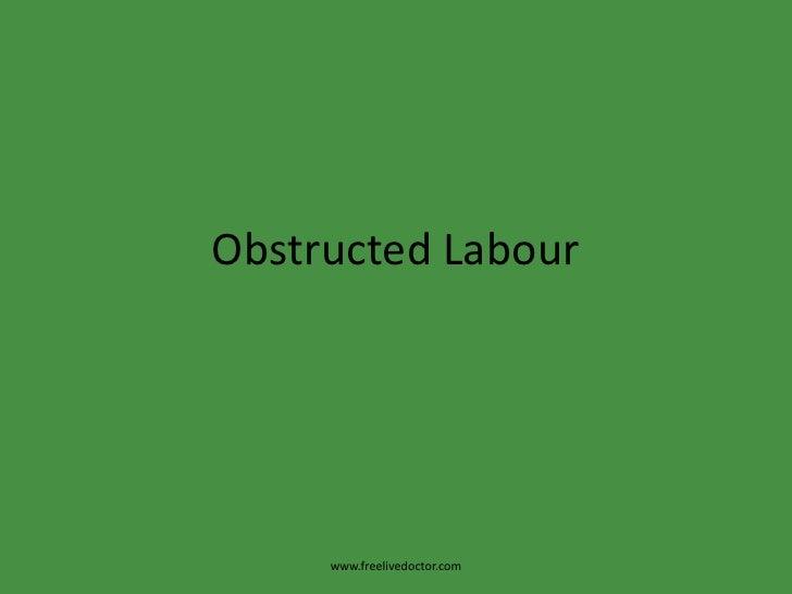 Obstructed Labour<br />www.freelivedoctor.com<br />