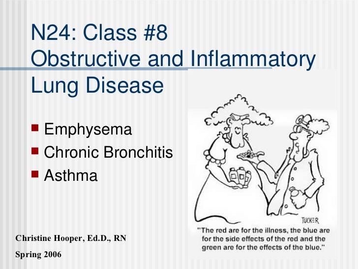 N24: Class #8 Obstructive and Inflammatory Lung Disease <ul><li>Emphysema </li></ul><ul><li>Chronic Bronchitis </li></ul><...