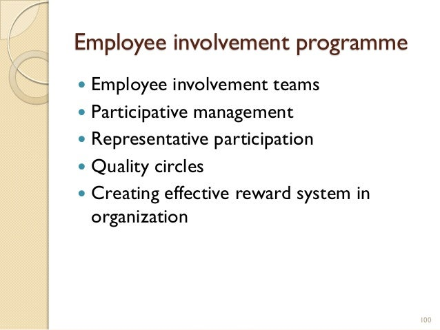 employee involvement participation pr If the organization understands and tries to practice school pr as the  and carry on involvement and  maintaining membership and participation in the national.