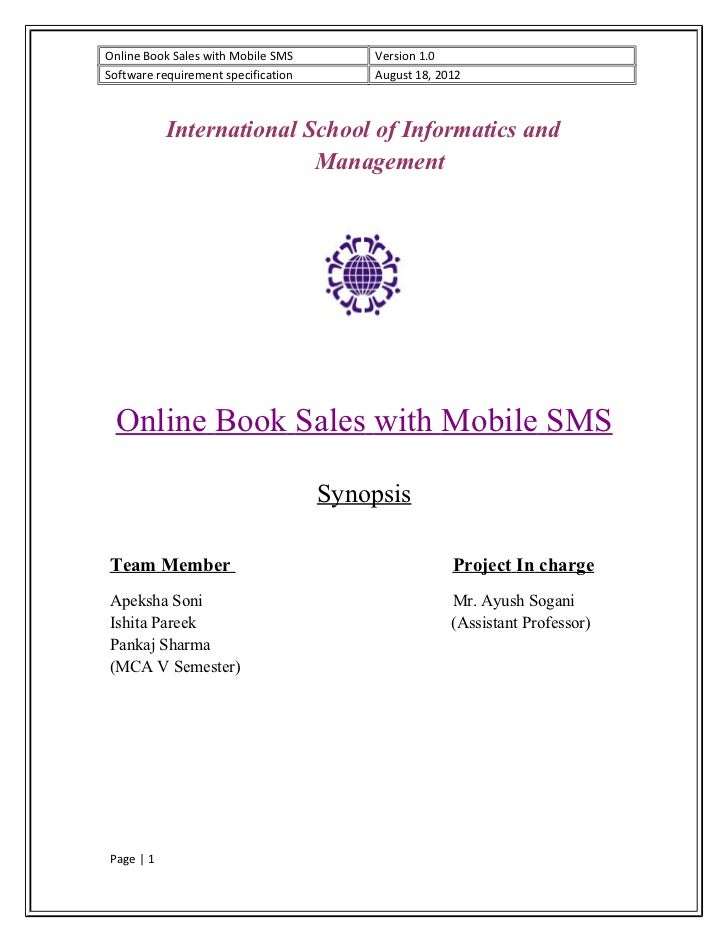 online book sales with mobile sms version 10software requirement specification august 18 - Online Book Pages