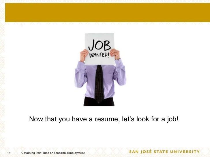 resume parttime
