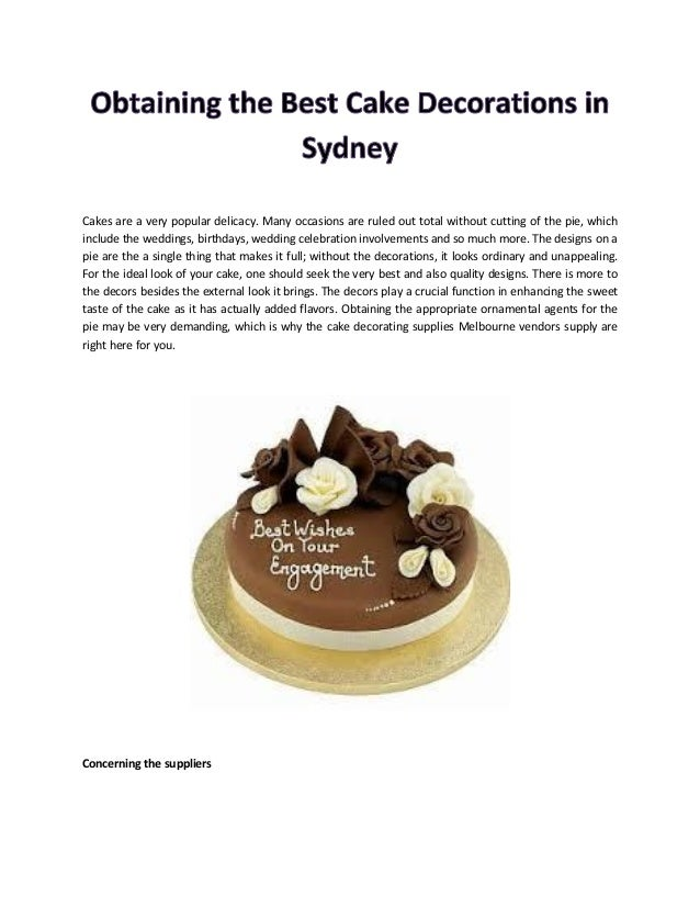 Obtaining The Best Cake Decorations In Sydney