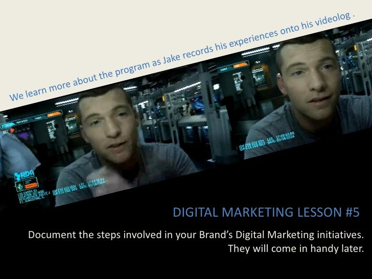 DIGITAL MARKETING LESSON #5 Document the steps involved in your Brand's Digital Marketing initiatives.                    ...