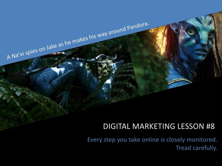 DIGITAL MARKETING LESSON #8 Every step you take online is closely monitored.                                   Tread caref...