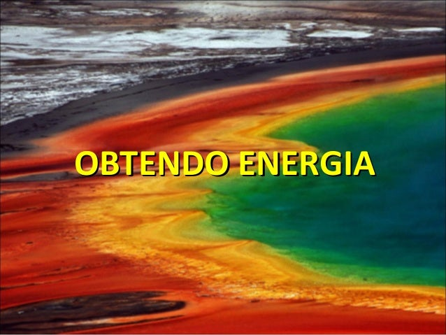 OBTENDO ENERGIAOBTENDO ENERGIA