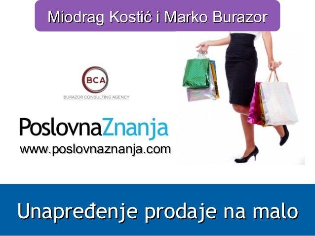 MMiiooddrraagg KKoossttiićć ii MMaarrkkoo BBuurraazzoorr  wwwwww..ppoosslloovvnnaazznnaannjjaa..ccoomm  UUnnaapprreeđđeenn...