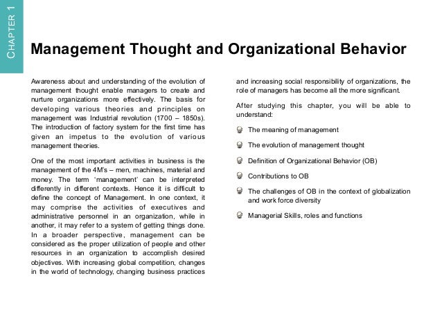 Management Process and Organizational Behaviour