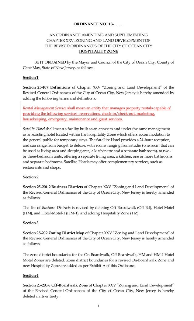 1 ORDINANCE NO. 13-_____ AN ORDINANCE AMENDING AND SUPPLEMENTING CHAPTER XXV, ZONING AND LAND DEVELOPMENT OF THE REVISED O...