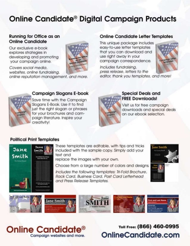 political campaign letter templates sample