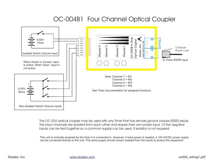 OC-004B1 Four Channel Optical Coupler                  +                                                                  ...