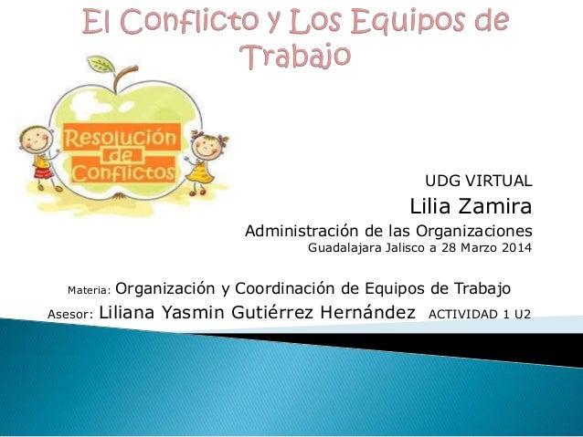 UDG VIRTUAL Lilia Zamira Administración de las Organizaciones Guadalajara Jalisco a 28 Marzo 2014 Materia: Organización y ...