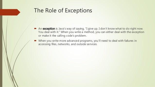 OCA Java SE 8 Exam Chapter 6 Exceptions