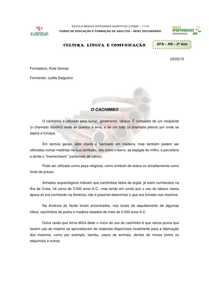 ESCOLA BÁSICA INTEGRADA QUINTA DO CONDE – 11/12                   CURSO DE EDUCAÇÃO E FORMAÇÃO DE ADULTOS – NÍVEL SECUNDÁR...