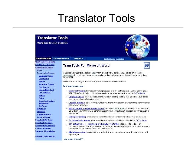 Translator Tools