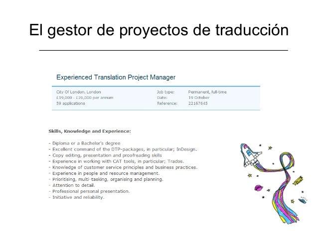 El gestor de proyectos de traducción