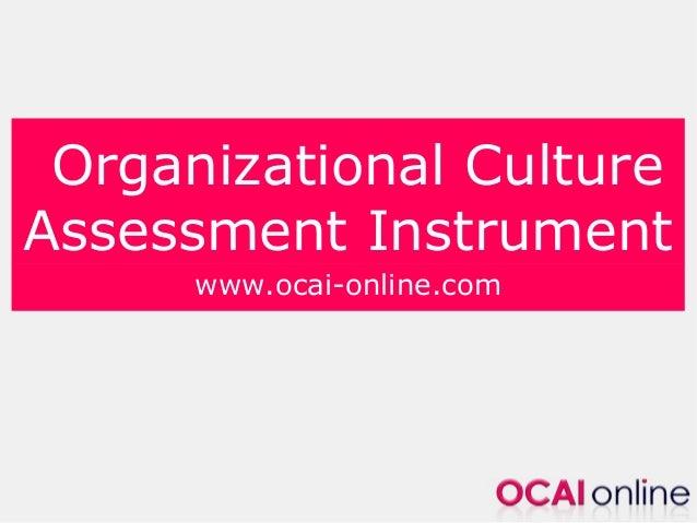 organizational culture assessment instrument template - organizational culture change use ocai
