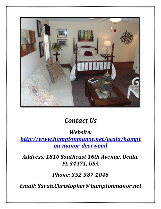 Hampton Manor Assisted Living: Ocala Florida Retirement ...