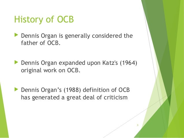 Organizational Citizenship Behavior (OCB)