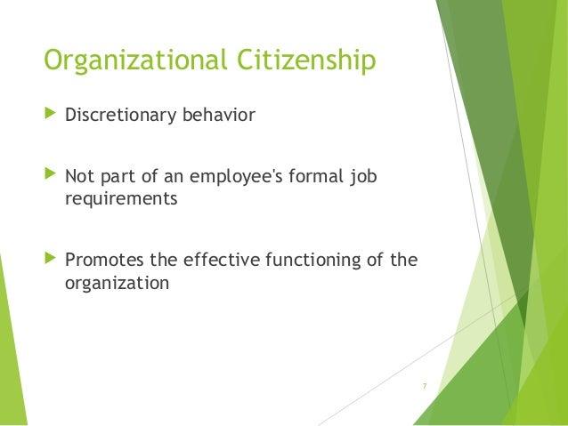 organizational citizenship behavior Organizational citizenship behavior in sport: relationships with leadership,   ocb research in the organizational literature, the multidimensional model of.