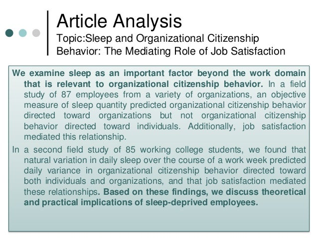 an essay on organizational citizenship behavior Explore the latest articles, projects, and questions and answers in organizational citizenship behavior, and find organizational citizenship behavior experts.