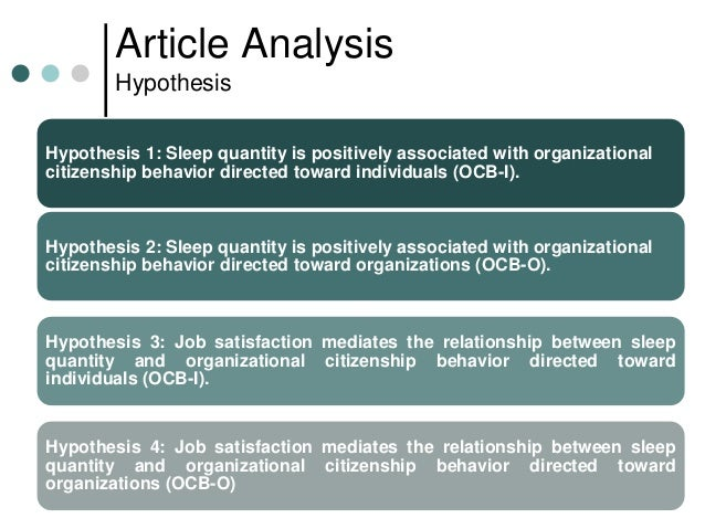 organizational behavior article