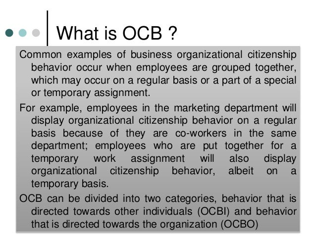 Explanation of Organizational Citizenship Behavior (OCB) With Examples