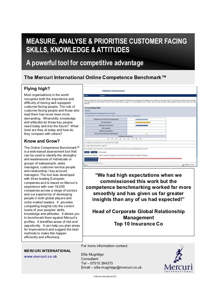 MEASURE, ANALYSE & PRIORITISE CUSTOMER FACING SKILLS, KNOWLEDGE & ATTITUDES A powerful tool for competitive advantageThe M...
