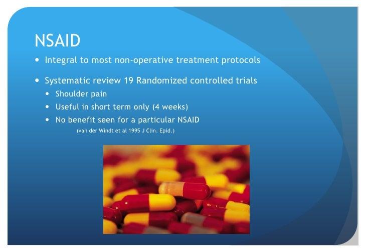 NSAID</li></li></ul><li>Exercise 1<br /> Kuhn 2009 JSES<br />