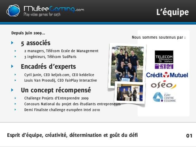 01 L'équipe Depuis Juin 2009... 5 associés 2 managers, Télécom Ecole de Management 3 ingénieurs, Télécom SudParis Encadrés...