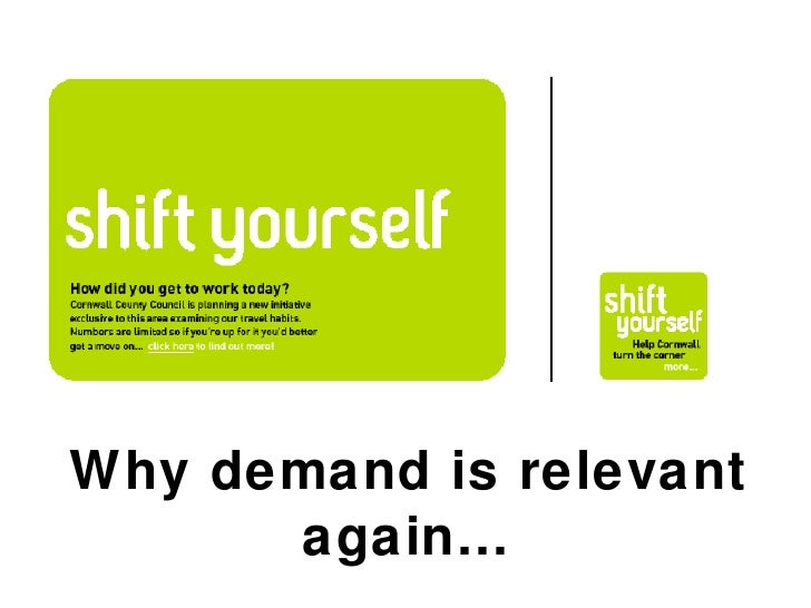 Why demand is relevant again…