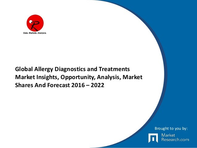 Global Allergy Diagnostics and Treatments Market Insights, Opportunity, Analysis, Market Shares And Forecast 2016 – 2022 B...