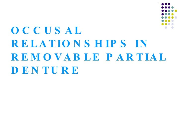 occlusal relationship in rpd ppt