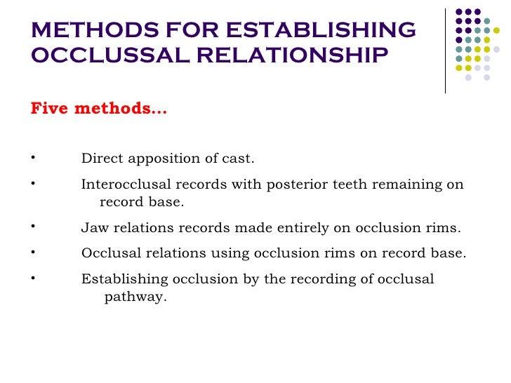 occlusal relationship