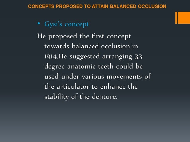 • It is the second factor of balanced occlusion. • It is determined by dentist during anterior try in. • It should be set ...