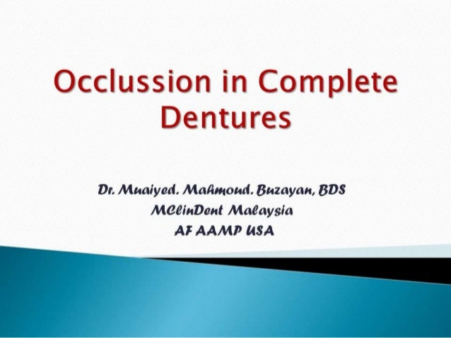 Occlussion in complete_dentures__prostho_fourth