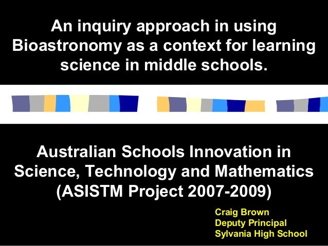 An inquiry approach in usingAn inquiry approach in using Bioastronomy as a context for learningBioastronomy as a context f...