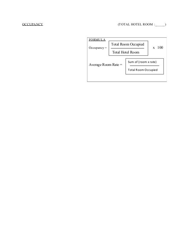 Occupancy Calculation Form