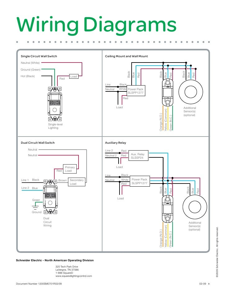 occupancy sensor selection guide 1200 sm0701 wiring diagrams single circuit wall switch