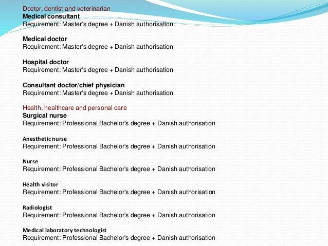Occupation List Denmark Denmark Immigration Consultant