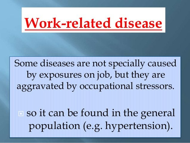  Occupational health is concerned with physical, mental and social conditions of a worker in relation to his/her work and...