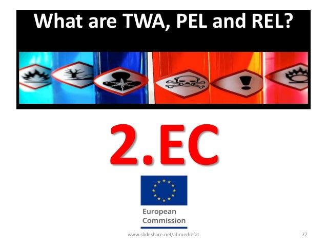What are TWA, PEL and REL? 2.EC www.slideshare.net/ahmedrefat 27