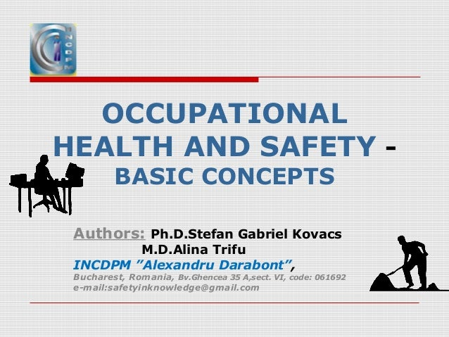 Occupational Health And Safety Basic Concepts