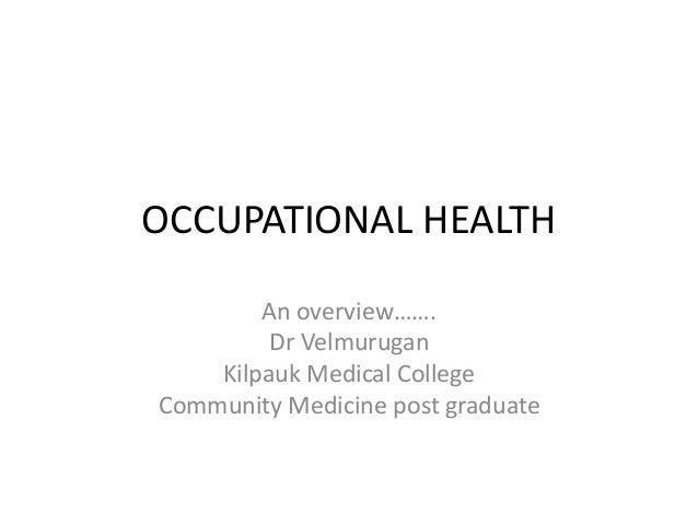 Occupational health: