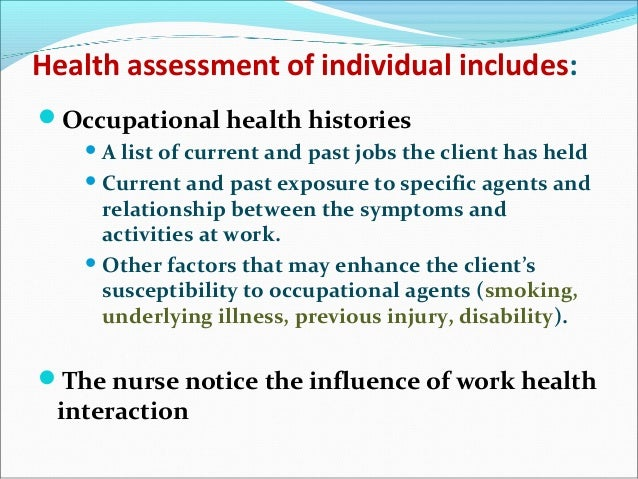 relationship between occupational health and wellbeing